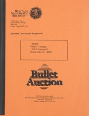 Bullet Auction: Held in conjunction with the Annual Suburban Washington/Baltimore Coin Show