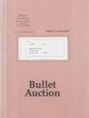 Bullet Auction: Held in conjunction with the August 1991 Chicago Show