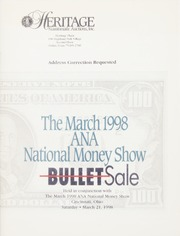 Bullet Auction: Held in conjunction with the March 1998 ANA National Money Show