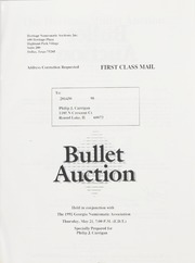 Bullet Auction: Held in conjunction with the 1992 Georgia Numismatic Association Convention