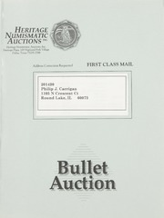 Bullet Auction: Held in conjunction with the1993 American Numismatic Association's Early Spring Convention