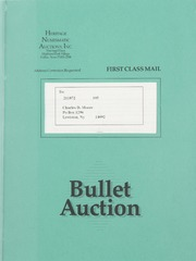 Bullet Auction: Held in conjunction with the 1990 Dallas Coin and Stamp Expo