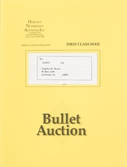Bullet Auction: Held in conjunction with the June 1991 Dallas Coin & Stamp Exposition