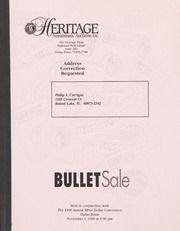 Bullet Auction: Held in conjunction with the 1996 Annual Silver Dollar Convention
