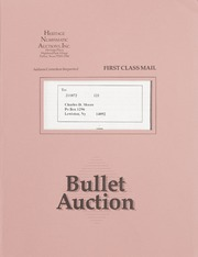 Bullet Auction: Held in conjunction with the December 1991 Dallas Coin & Stamp Expo