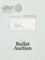 Bullet Auction: Held in conjunction with the 1992 Early Spring ANA Convention