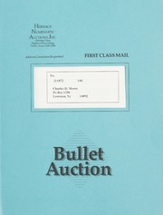 Bullet Auction: Held in conjunction with the 1991 Early Spring ANA Convention