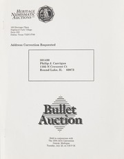 Bullet Auction: Held in conjunction with the 1994 ANA Convention
