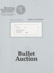 Bullet Auction: Held in conjunction with the 1992 Texas Numismatic Association Convention