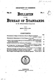 bulletin of the bureau of standards united states national bureau of standards united states