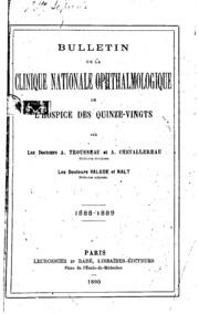 Vol 7-10: Bulletin de la Clinique Nationale Ophtalmologique de lHospice des Quinze-Vingts