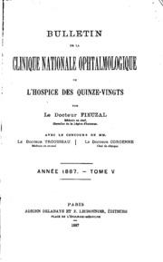 Vol 5: Bulletin de la Clinique Nationale Ophtalmologique de lHospice des Quinze-Vingts