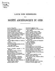 Bulletin de la Société archéologique, historique, littéraire and scientifique du Gers