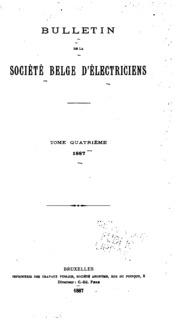 Bulletin de la Société belge délectriciens