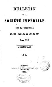 BULLETIN DE LA SOCIETE IMPERIALE