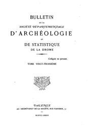 Vol 23-24: Bulletin de la Société départementale darchéologie et de statistique de la ...