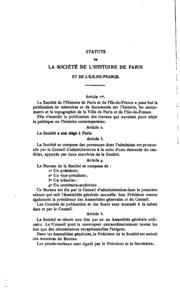 Bulletin de la Société de lhistoire de Paris et de lIle-de-France