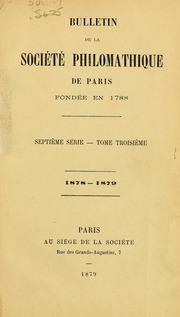 Vol t. 3-4: Bulletin de la Société philomathique de Paris