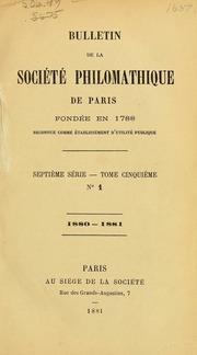 Vol t. 5-6: Bulletin de la Société philomathique de Paris
