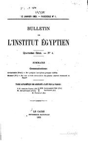 Bulletin de lInstitut égyptien