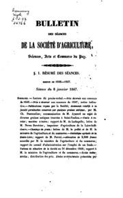 Bulletin des séances de la Société dagriculture, sciences, arts et commerce du Puy