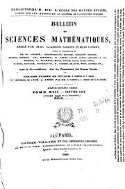 Vol 24: Bulletin des sciences mathématiques et astronomiques