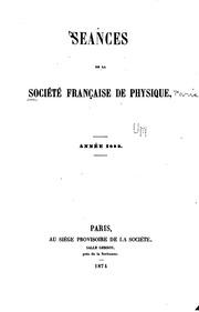Bulletin des seances