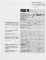 Bullet Auction: Held in conjunction with the April 1997 Central States Numismatic Society Convention