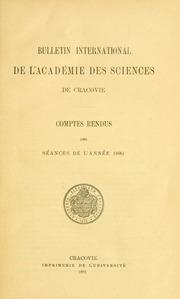 Vol 1890: Bulletin international de lAcadémie des sciences de Cracovie. Comptes rendus des séances de lannée ... = Anzeiger der Akademie der Wissenschaften in Krakau
