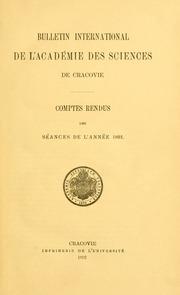 Vol 1891: Bulletin international de lAcadémie des sciences de Cracovie. Comptes rendus des séances de lannée ... = Anzeiger der Akademie der Wissenschaften in Krakau