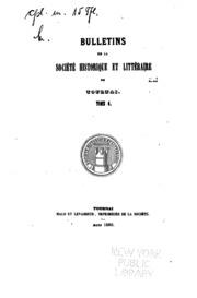 Vol 6: Bulletins de la Société Historique et Littéraire de Tournai