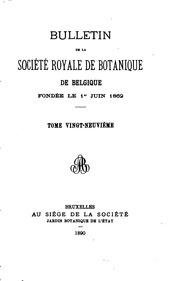 Bulletins de la Société royale de botanique de Belgique