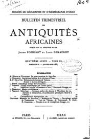 Bulletin trimestriel des antiquités africaines