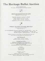 Bullet Auction: Held in conjunction with the October 1993 Long Beach Coin & Stamp Expo