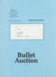Bullet Auction: Held in conjunction with the February 1991 Long Beach Numismatic & Philatelic Convention