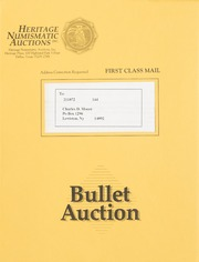 Bullet Auction: Held in conjunction with the February 1992 Long Beach Coin & Stamp Expo