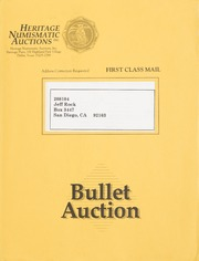 Bullet Auction: Held in conjunction with the 1993 Long Beach Coin & Stamp Expo