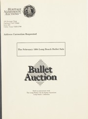 Bullet Auction: Held in conjunction with the February 1994 Long Beach Bullet Sale