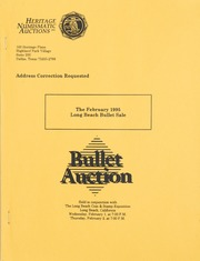 Bullet Auction: Held in conjunction with the February 1995 Long Beach Bullet Sale