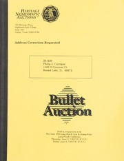 Bullet Auction: Held in conjunction with the June 1993 Long Beach Coin & Stamp Expo