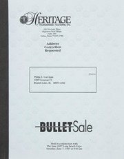 Bullet Auction: Held in conjunction with the June 1997 Long Beach Expo