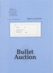 Bullet Auction: Held in conjunction with the May-June 1991 Long Beach Coin & Stamp Expo