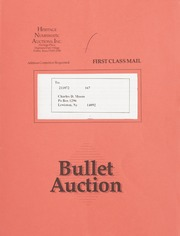 Bullet Auction: Held in conjunction with the October 1991 Long Beach Coin & Stamp Expo