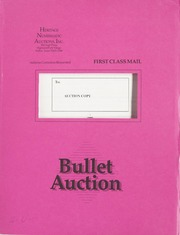 Bullet Auction: Held in conjunction with the Long Beach Numismatic and Philatelic Exposition Inc.