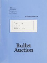 Bullet Auction: Held in conjunction with the June 1990 Mid-America Coin Convention