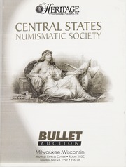Bullet Auction: Central States Numismatic Society