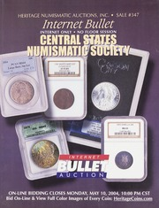 Internet Bullet: Central States Numismatic Society, Sale #347
