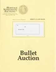 Bullet Auction: Held in conjunction with the1992 Orlando ANA Convention