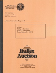 Bullet Auction: Held in conjunction with the 40th Annual FUN Convention