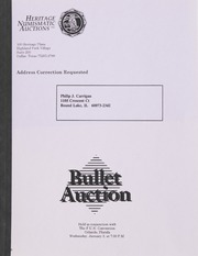 Bullet Auction: Held in conjunction with the F.U.N. Convention